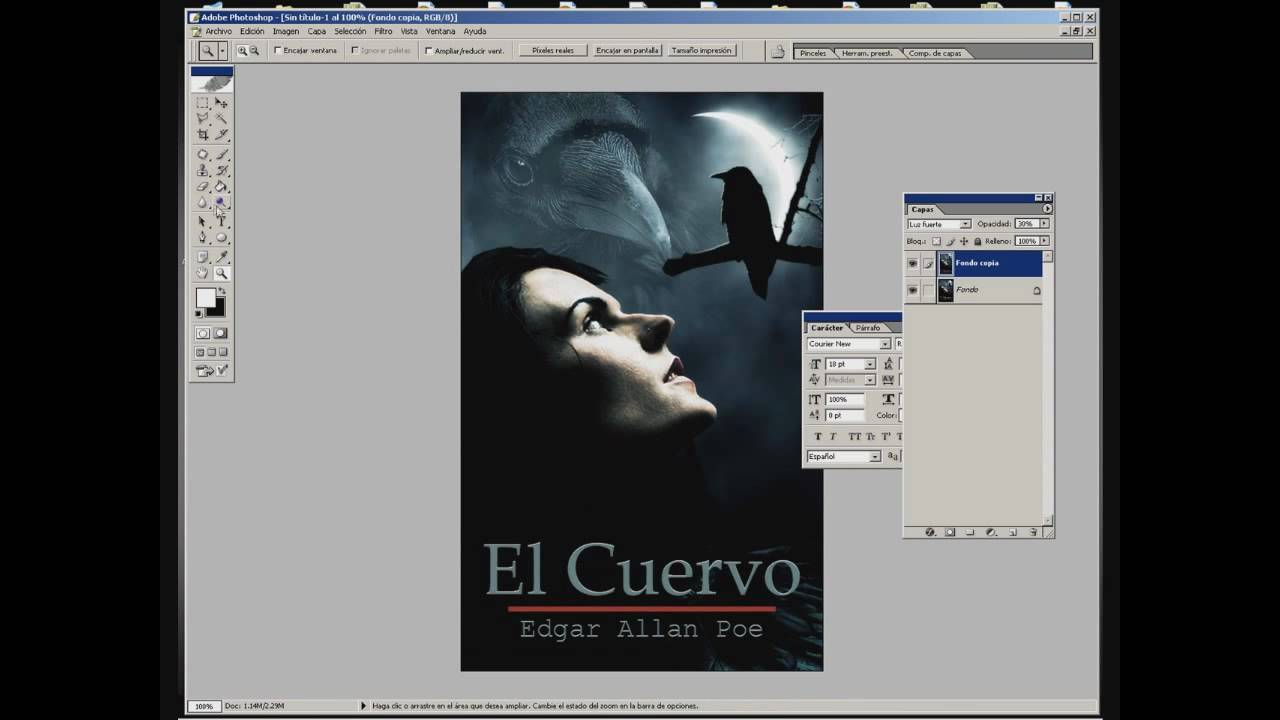 Creando Portada de un Libro en Photoshop - SpeedTutorial - YouTube