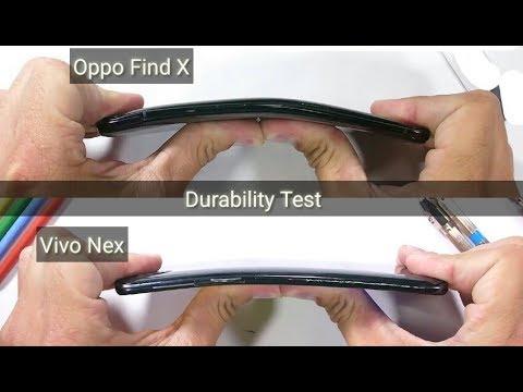 Vivo Nex Vs Oppo Find X (Durability Test)