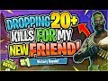 DROPPING 20+ FOR MY NEW FRIEND?! Community Games #5 (Fortnite Battle Royale)