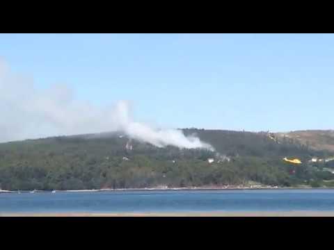Controlado un incendio forestal registrado en Rianxo