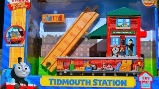 Thomas And Friends Tidmouth Station 2014 Wooden Railway Toy Train Review By Mattel Fisher Price