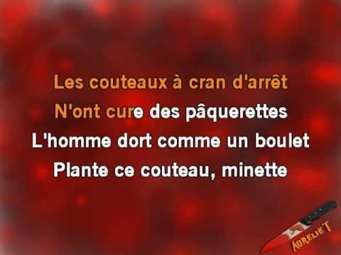 Jeanne Moreau  - Chanson à tuer [karaoke]