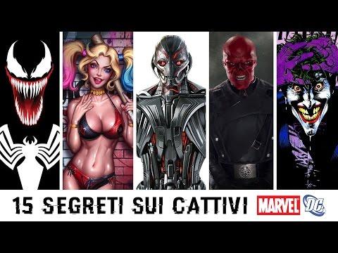 15 SEGRETI che non sai sui CATTIVI MARVEL e DC COMICS