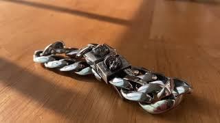 호랑이 쿠반체인 실버 은 팔찌,하디후더 범 시리즈.