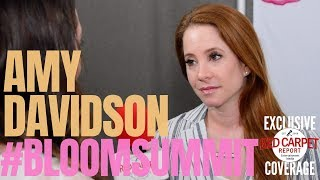 Amy Davidson interviewed at 2nd Annual Bloom Summit celebrity wellness, beauty retreat #BloomSummit