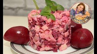 Маринованная свекла+ салат с сельдью. Очень вкусно и быстро.
