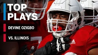 Top Plays: Devine Ozigbo Highlights vs. Illinois Fighting Illini Nebraska Big Ten Football