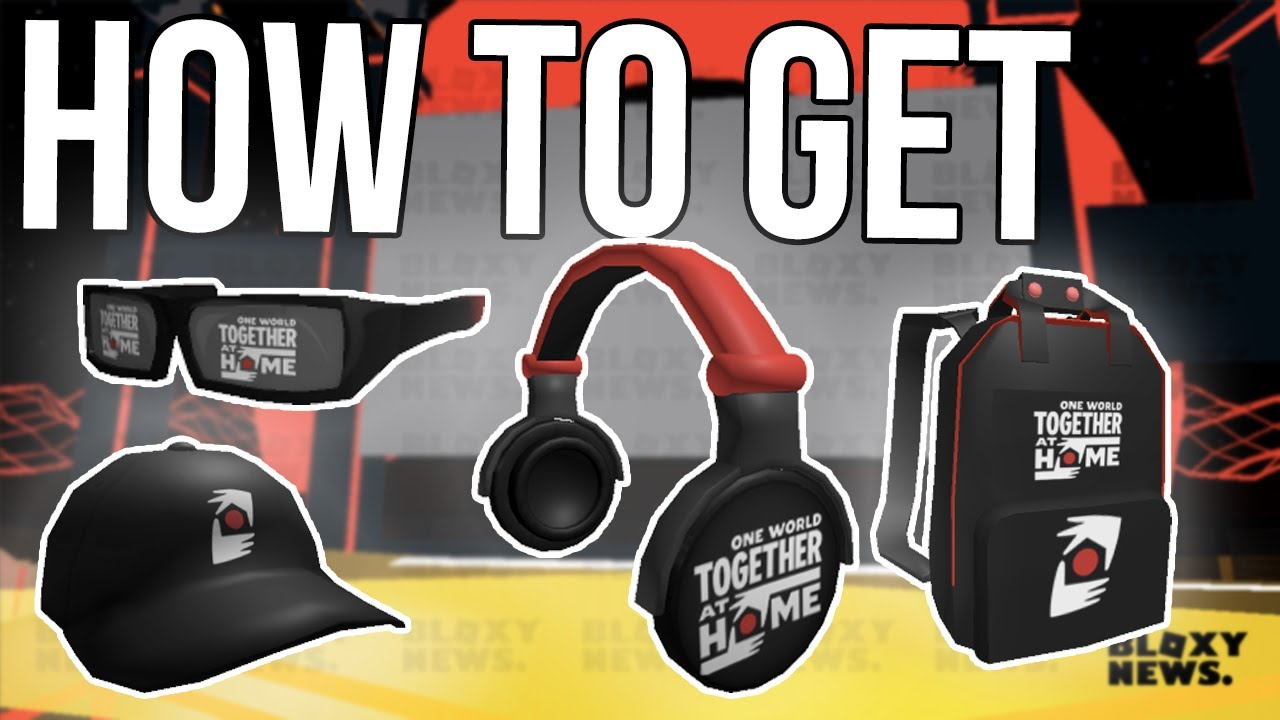 HOW TO GET ONE WORLD TOGETHER AT HOME FREE ITEMS ROBLOX