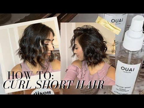 How To Curl Short Hair // Simple Beach Waves