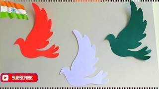 DIY Paper wall hanging|#Independencedaycraftideas |#Roomdecorideas| Indian tricolor diy pigeons