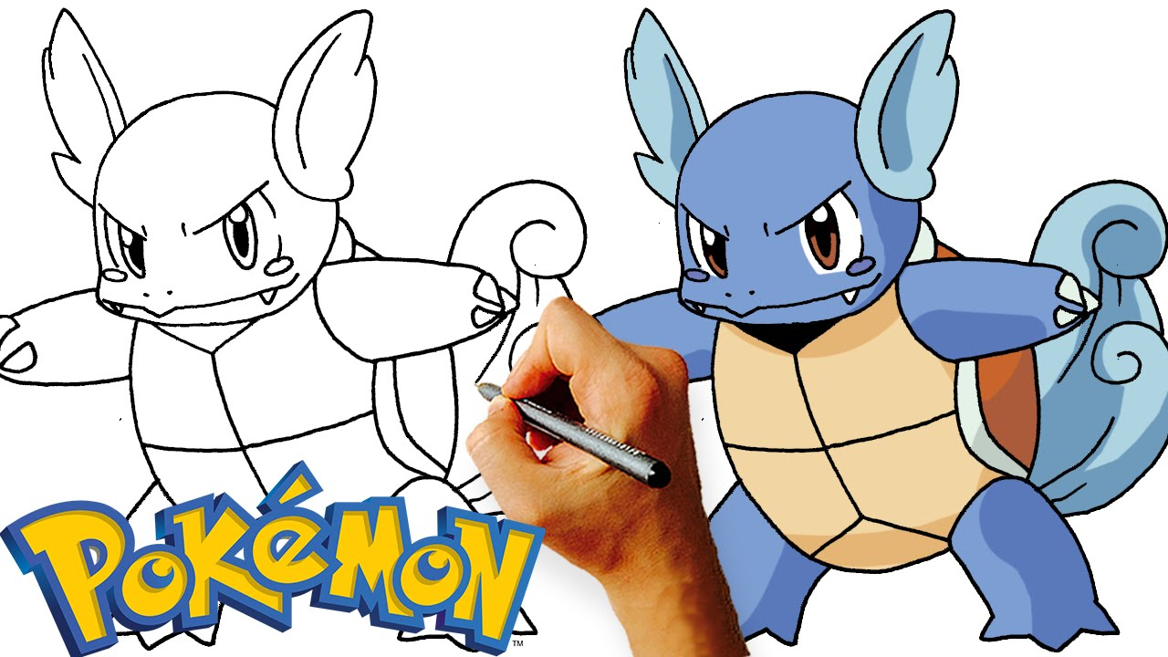 How to Draw Wartortle (Pokemon) Step by Step Drawing ...