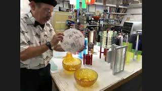 """T&T"" Talk & Tour with Glass Artist Sidney Hutter."