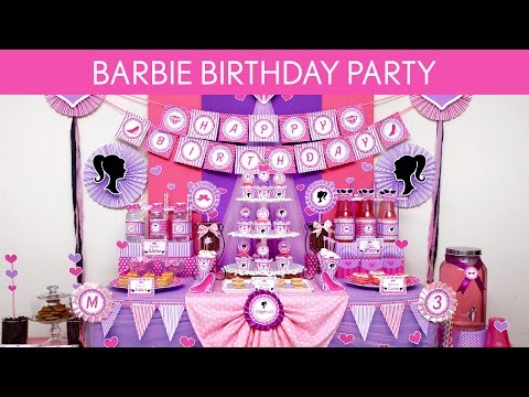 Barbie Birthday Party Ideas // Barbie - B129