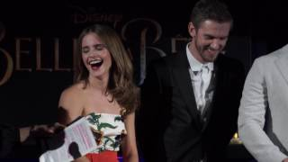 Beauty and the Beast Paris Cast Interview - Emma Watson, Dan Stevens, Luke Evans, Josh Gad