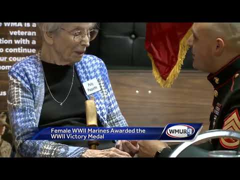 Female WW2 Veterans get Victory Medals