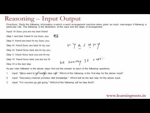 How to crack Input - Output questions for MBA CET, Bank PO, Clerical, CAT aspirants