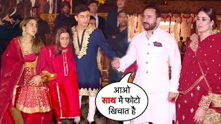 Saif Ali Khan's Ex-Wife AMRITA, Kids Sara & Ibrahim IGN0RE$ Him & His Wife Kareena @Kapoor WEDDING