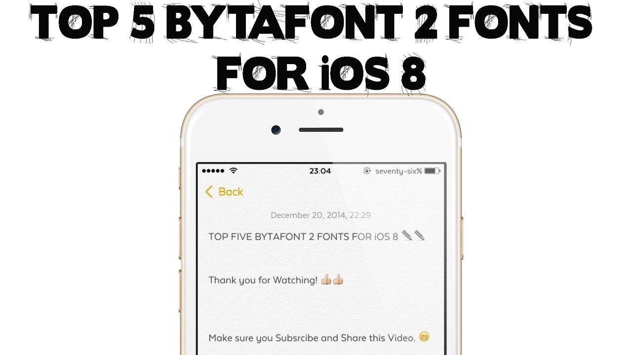 Top 5 Bytafont 2 Fonts For Ios 8 9 Youtube