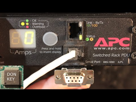 APC 7920 PDU #2 DIY cheap serial console cable for password reset