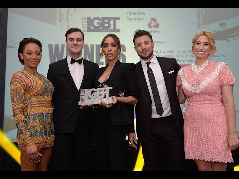 Ines Rau's Says Everybody Deserves To Be Loved at the British LGBT Awards