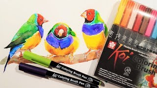 Sakura Koi Coloring Brush Pens Review & Demo