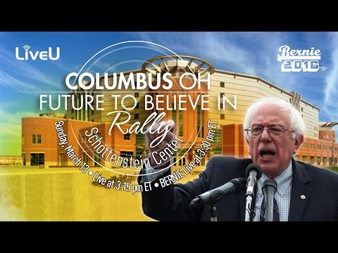 Bernie Sanders LIVE in Columbus Ohio