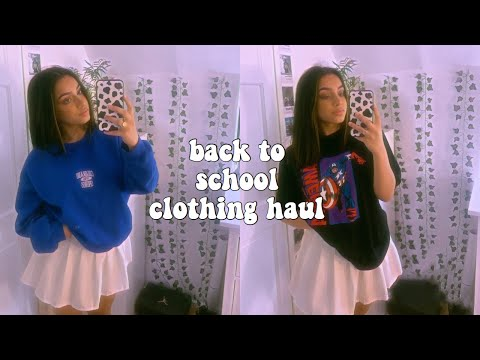 £500+ BACK TO SCHOOL TRY ON CLOTHING HAUL asos and prettylittlething haul