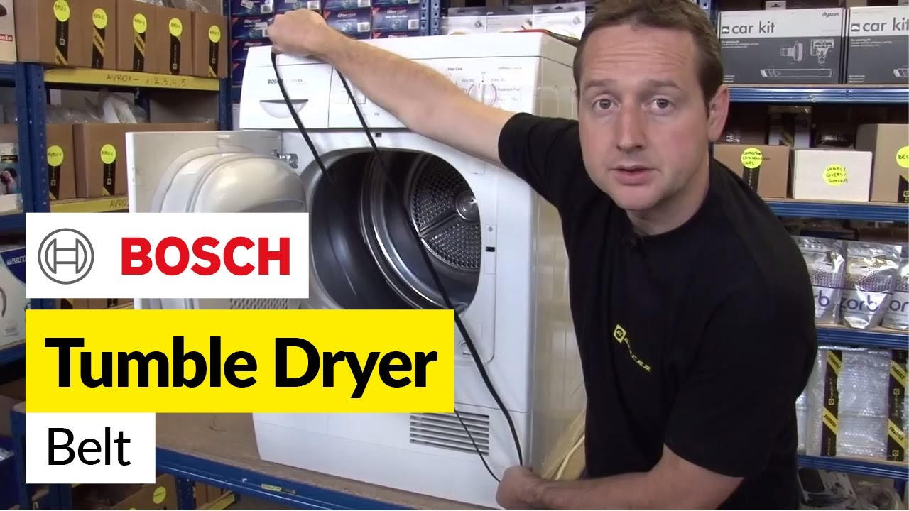 how to replace a tumble dryer belt on a bosch dryer youtube. Black Bedroom Furniture Sets. Home Design Ideas