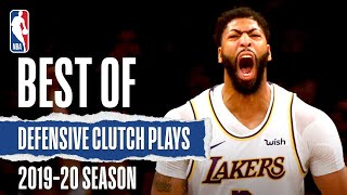 Best Of Defensive Clutch Plays | 2019-20 NBA Season