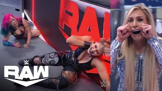 Charlotte Interrupts Rhea Ripley vs. Asuka Wrestlemania Rematch | WWE Raw  4/12/21 | WWE on USA