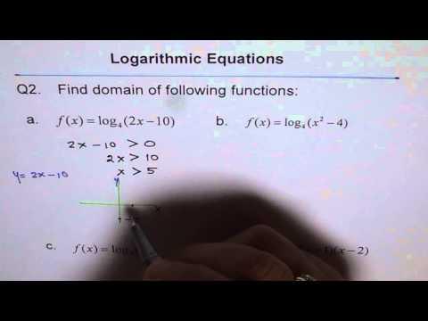 Find Domain of Logarithmic QuadraticFunction Q2