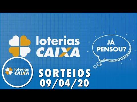 Loterias Caixa: Quina, Dia de Sorte e Timemania 09/04/2020