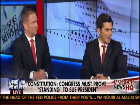 Robert Schalk, Esq, discusses possible lawsuit by Speaker Boehner vs Pres Obama on Fox News
