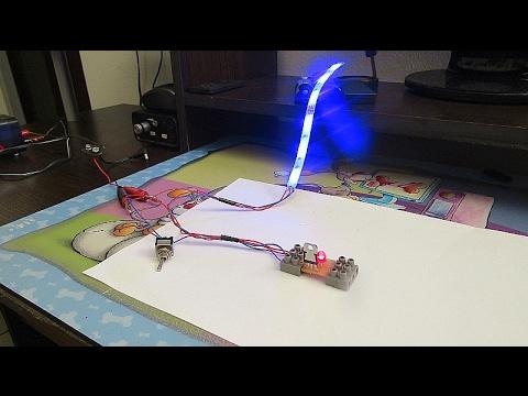 LED Leuchtband Blinker und Rücklicht - YouTube