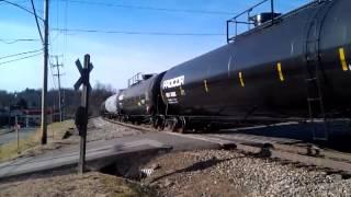 Wheeling & Lake Erie Gp40s Lead A Tank Train
