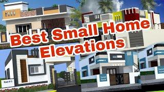 Best Home Elevation Designs For Single Floor   Small Home Front Elevations 3d Designs   Home Design