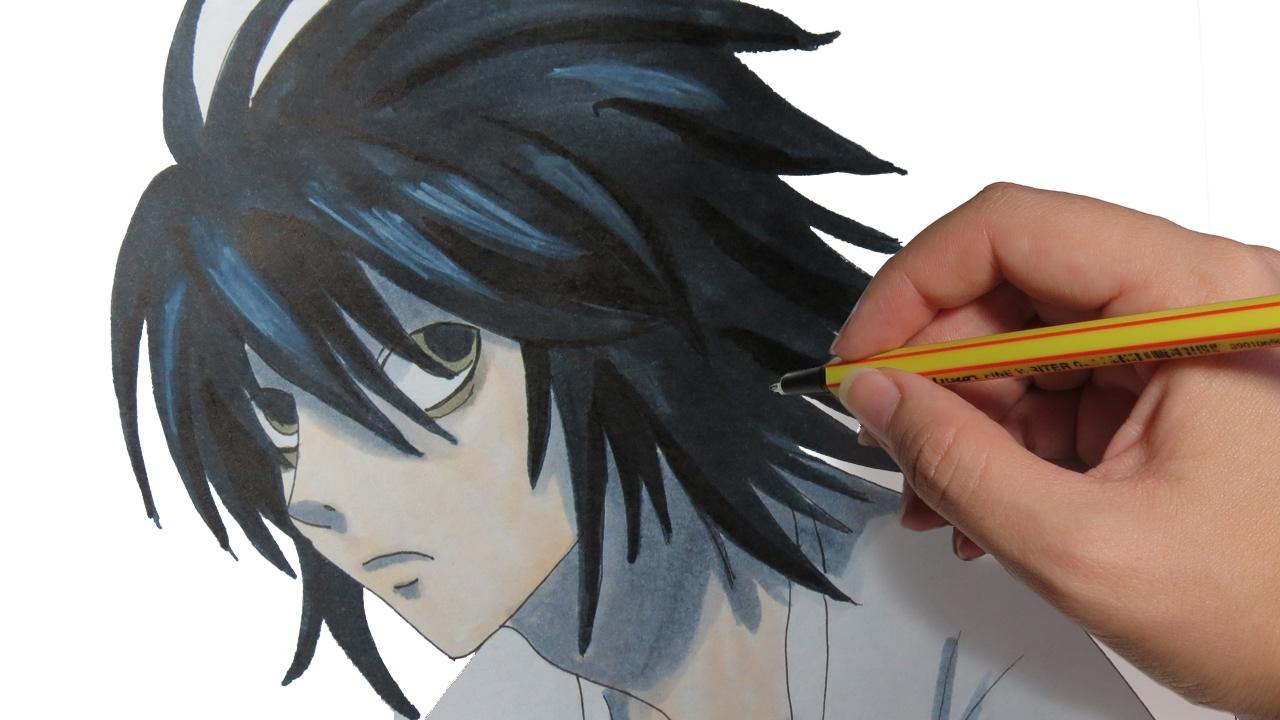 Como Dibujar Anime L De Death Note Aprende A Dibujar Personajes