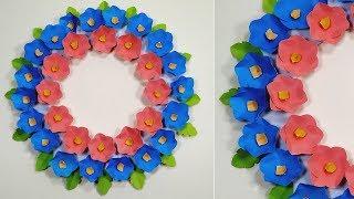 Paper Craft Wall Decor Ideas | Wall Decoration Easy Idea | Flower Decoration | Abigail Paper Crafts