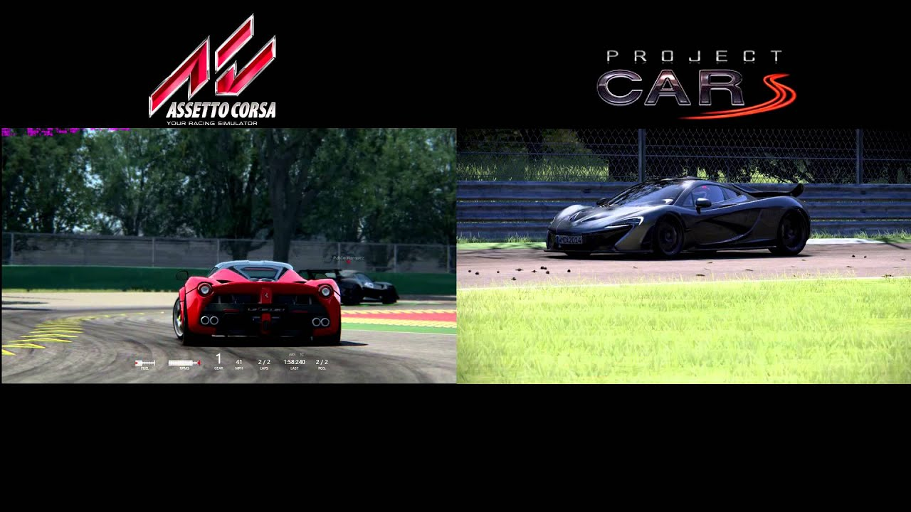 Assetto corsa vs project cars laferrari vs mclaren p1 - Project cars mclaren p1 ...