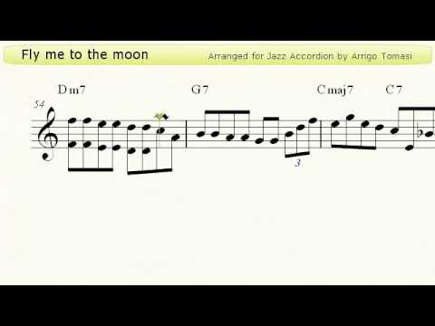 Fly me to the moon  Jazz Accordion Sheet Music