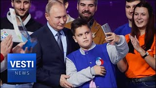 A Moving Moment: Putin Addresses Russia's Eager Youth at 2018 Volunteer Awards Ceremony