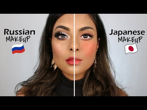 Japanese Makeup Vs. Russian Makeup - YouTube