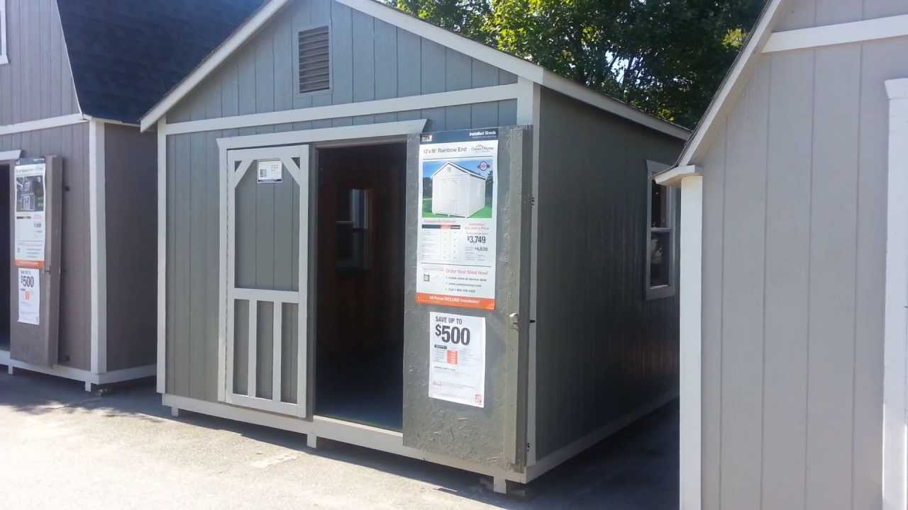 Home Depot Outdoor Storage Barn Star Bright 12u0027 X 12u0027   YouTube