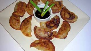 Gyoza (pot Stickers) Recipe - Delicious Fried Dumplings With Dipping Sauce