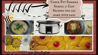 Summer Crock Pot Series: 5 Easy Recipes  Set It & Forget It!
