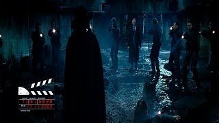 """Сцена из фильма """"«V» значит Вендетта"""", финальный бой"""
