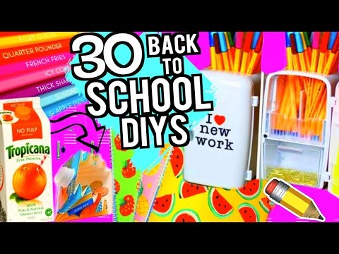 30 DIY SCHOOL SUPPLIES PROJECTS FOR BACK TO SCHOOL 2016-2017!