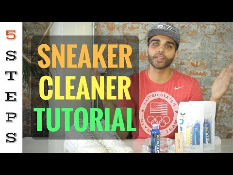 How to Use Redux Advanced Shoe Cleaner   Tutorial   Fabric Leather Cotton Suede Nubuck