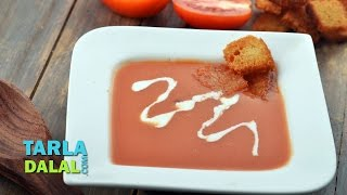 Cream Of Tomato Soup By Tarla Dalal