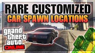 GTA 5 Rare & Secret Cars - FREE Customized MUSCLE CARS Spawn Location Online! (GTA 5 Rare Cars)